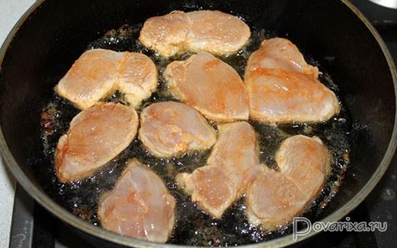 Как пожарить грудку на сковороде
