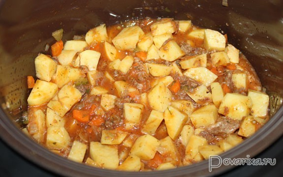 Картошка в мультиварке с тушенкой рецепт с фото