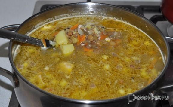 суп с чечевицей без мяса рецепт
