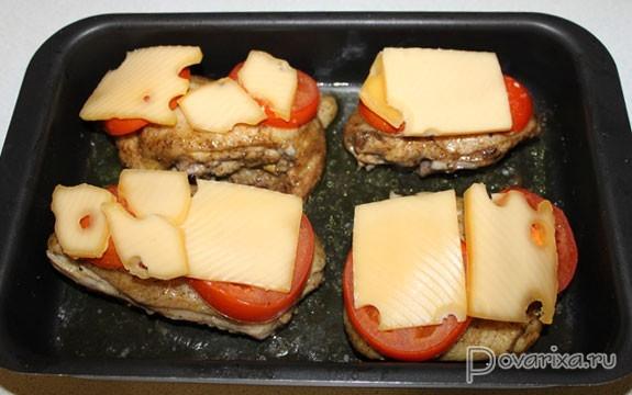 Курица пофранцузски с помидорами в духовке  ХозОбоз  мы