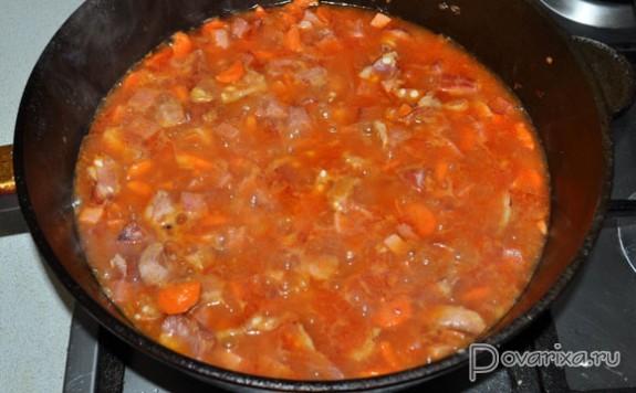 солянка рецепт с фото пошагово с ребрышками копчеными