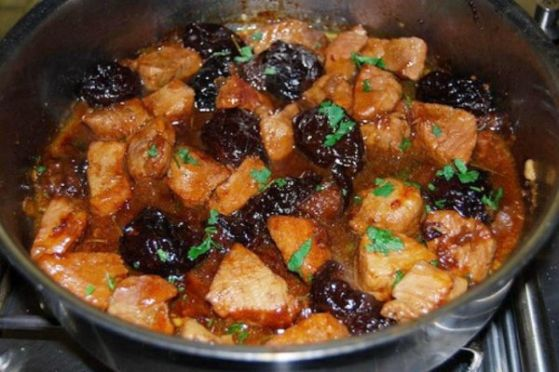 рецепт мяса с черносливом