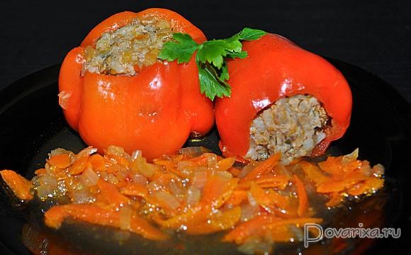 перцы фаршированные мясом с рисом рецепт