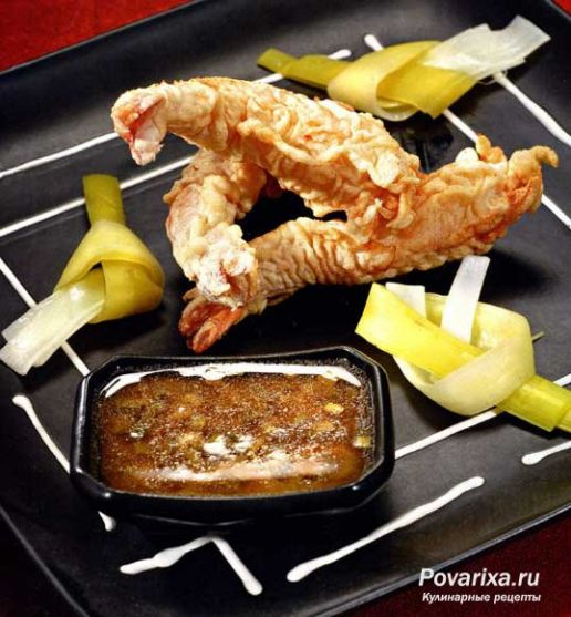 креветки рецепты приготовления жареные в кляре с фото