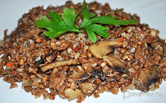 гречка с курицей и грибами в мультиварке рецепты с фото