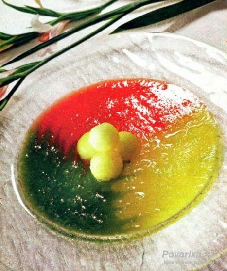 Десерт из арбуза и дыни рецепт
