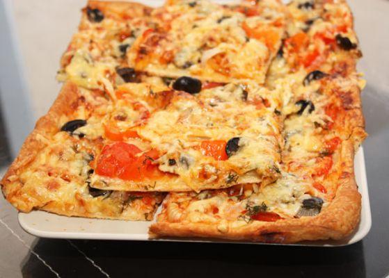 пицца в духовке на бездрожжевом тесте рецепт