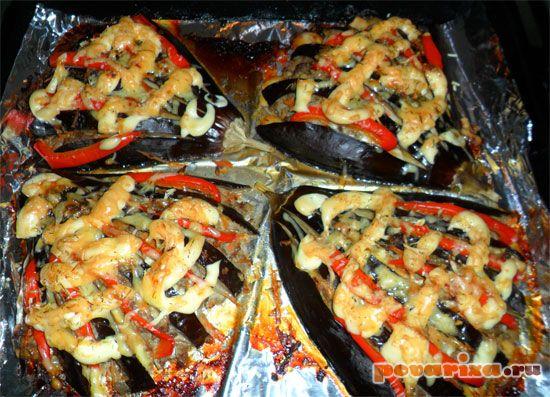 рецепт баклажаны веером с фото