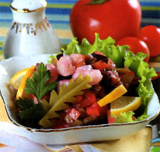 рецепт салат по русски