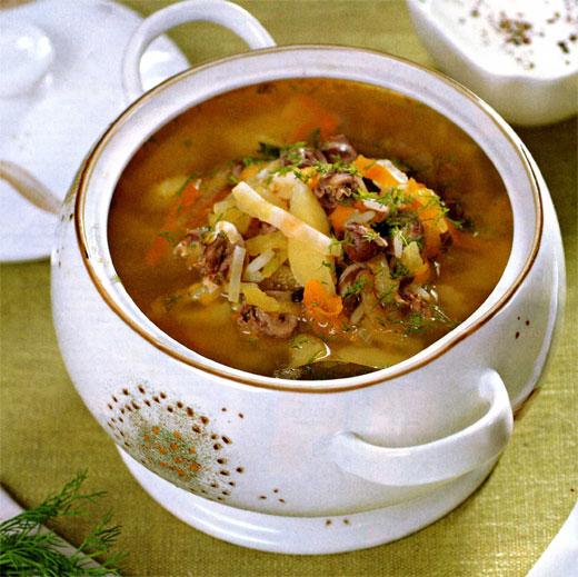 Суп из сердечек и желудков