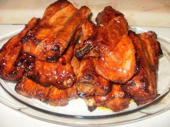 рецепт из свиных ребрышек