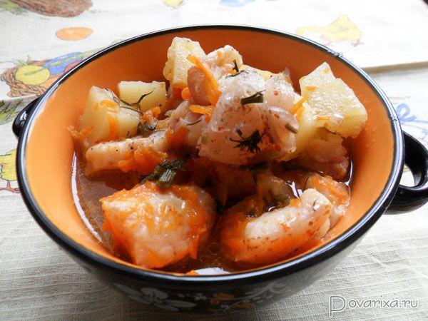 Рецепт рыбы с картошкой тушеная