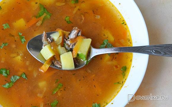 рецепт супа из кильки в томатном соусе с фото пошагово