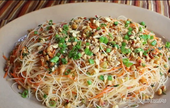 Рисовая лапша салаты с фото и рецептами
