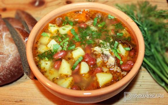 Суп с фасолью и картошкой