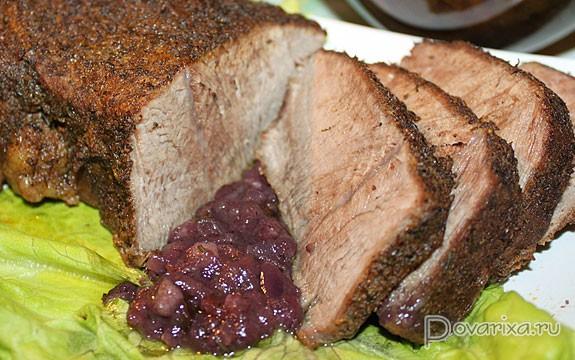 Рецепт мяса куском в духовке