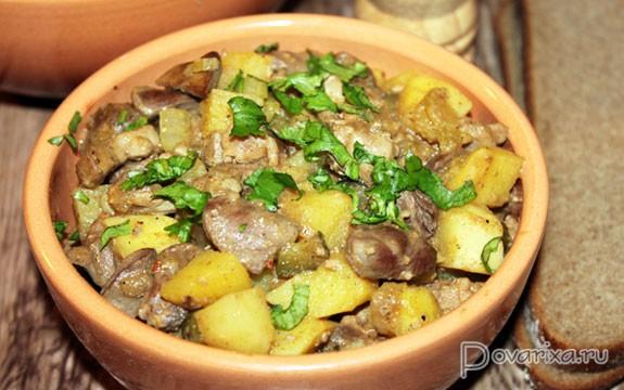 Блюда из куриных субпродуктов рецепты