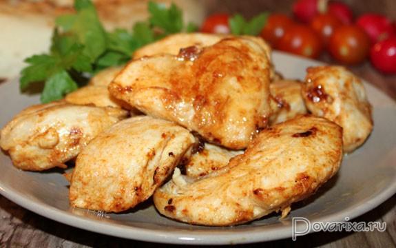 Рецепт куриной грудки жареной