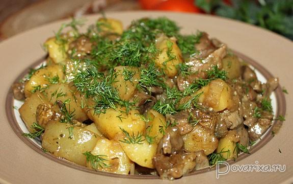 Салат из картофеля и апельсинов