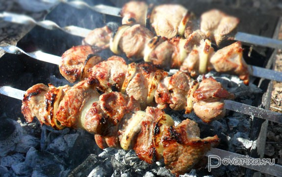 рецепт приготовления классического шашлыка из свинины