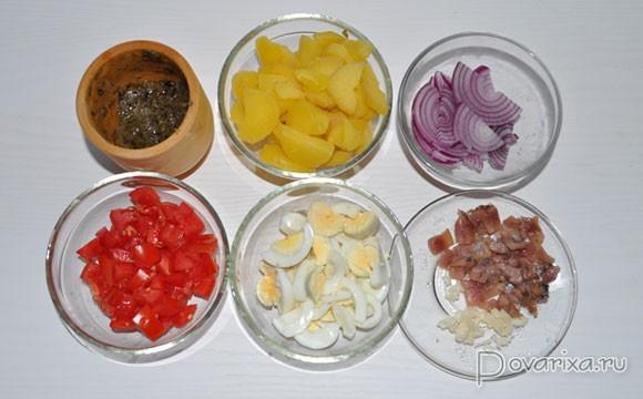 салат с анчоусами рецепты