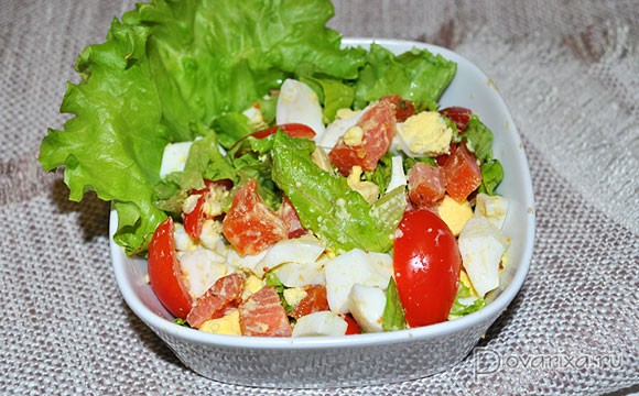 рецепт салатов с копченой красной рыбой с фото