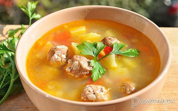Суп картофельный с фрикадельками пошаговый