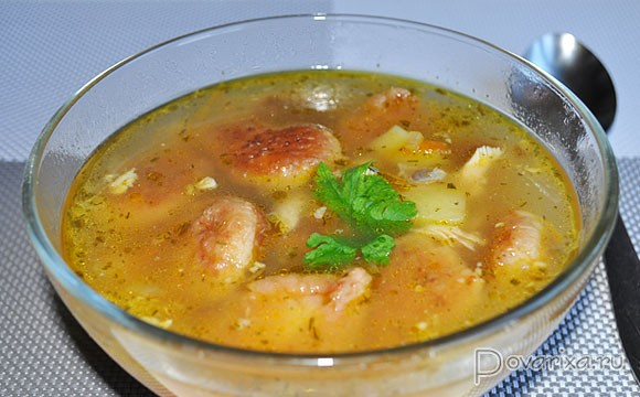 рецепт куриного супа с галушками с пошаговым фото
