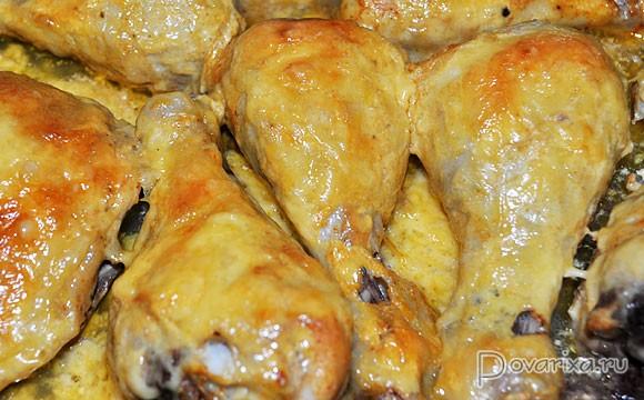 Запеченные куриные ножки с сыром