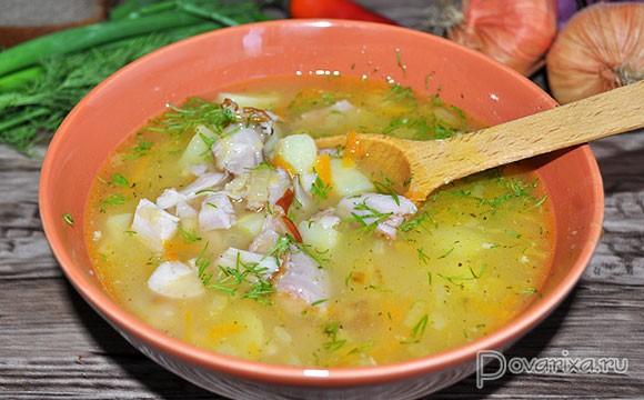 рецепт горохового супа с копченой курицей пошаговый рецепт с фото