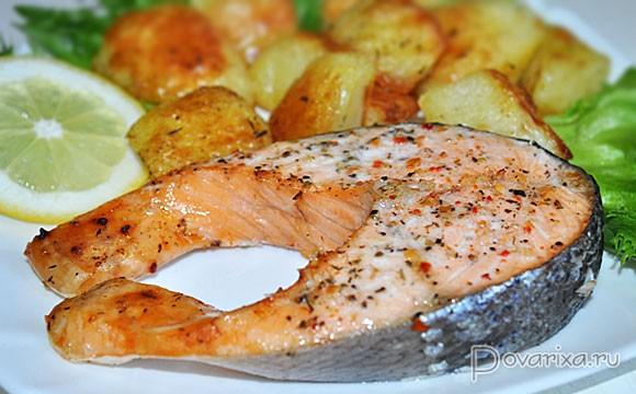 рыба красная запеченная в духовке со сливками
