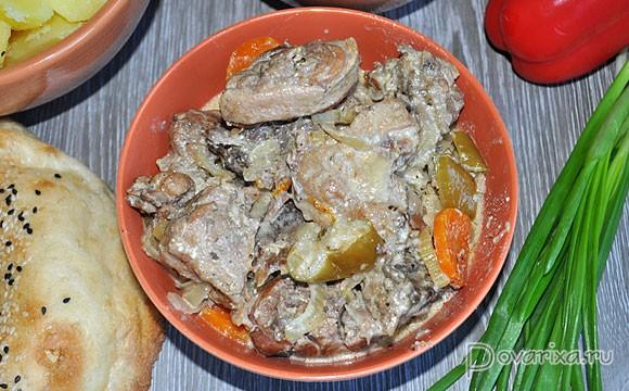 рецепт приготовления утки в мультиварке с яблоками рецепт