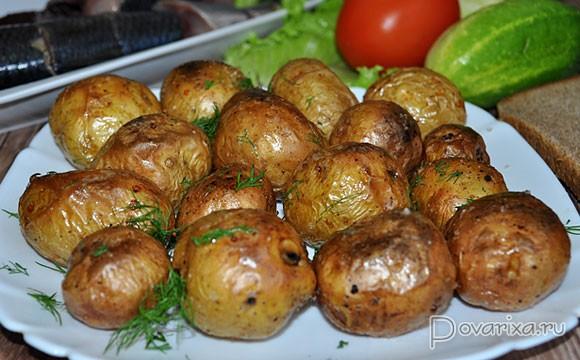 картошка в мундире обжаренная