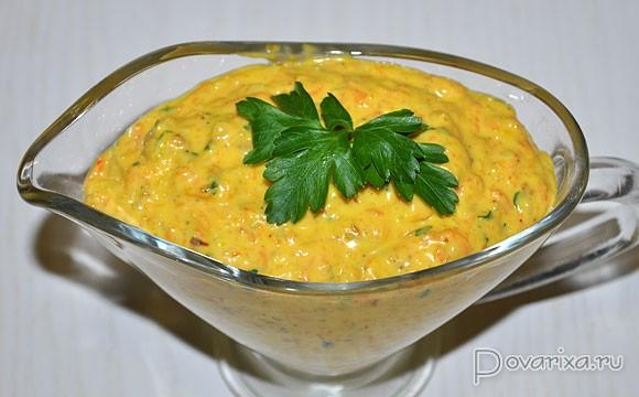 сметанный соус для жареной рыбырецепт