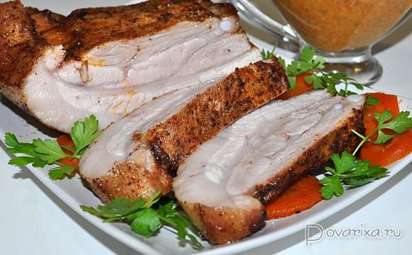 Корейка свиная кусочки рецепт в духовке 95