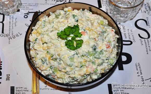 салаты с рыбой горячего копчения рецепт с фото