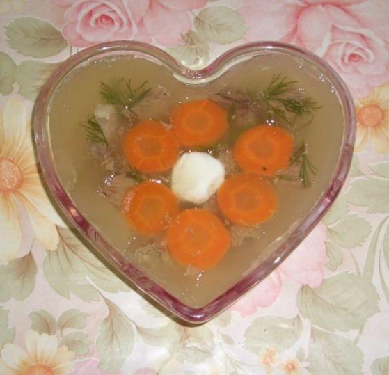 рецепт заливного из сердца с фото