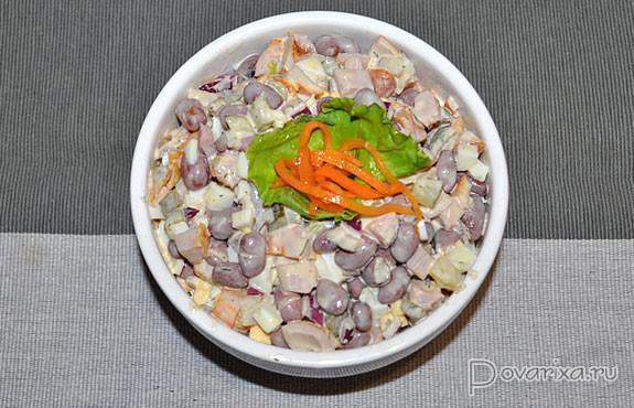 салат с грудкой копченой куриной