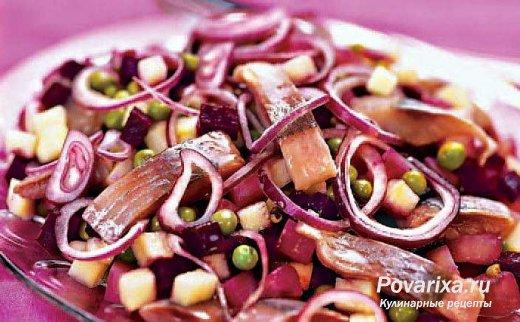 Салат свекла с селедкой