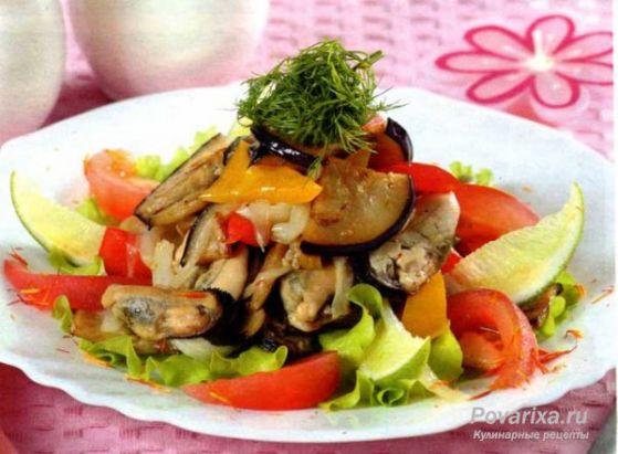 Салат с мидиями и овощами рецепты