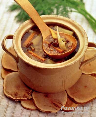суп с опятами замороженными и гречкой рецепт