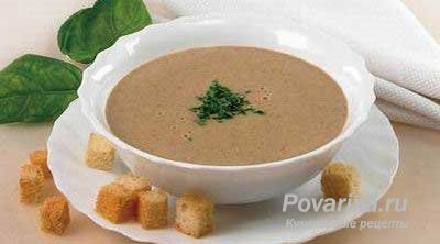 Калорийность блюда суп пюре из печени