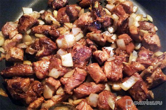 рецепт с фото жареная свинина
