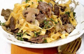 Рецепт говядина с шампиньонами