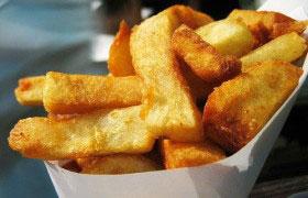 Картофель, жаренный соломкой в духовке
