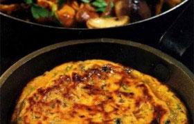 Омлет с грибами и сыром