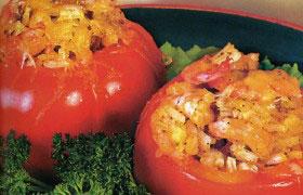 Горячая закуска из помидоров с креветками