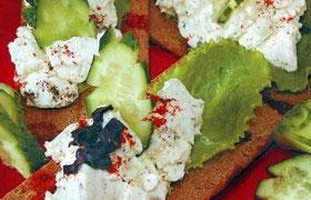 Хлебцы с творожным сыром