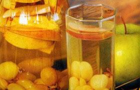 Компот из винограда с яблоками