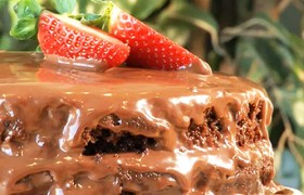 Шоколадный двухслойный торт